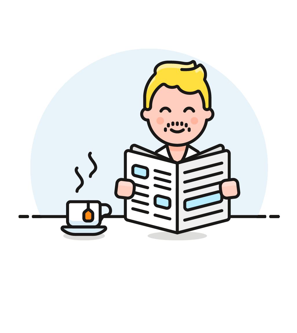 un uomo che legge un quotidiano